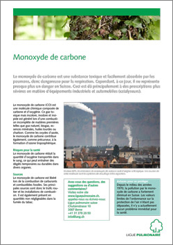Feuille d'information FAQ monoxyde de carbone